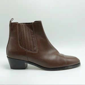 J Crew Brown Leather Booties